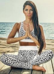 Fashion Leopard Skinny Yoga Sports Set