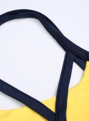 Fashion Cross Strap Elastic Yoga Sports Set