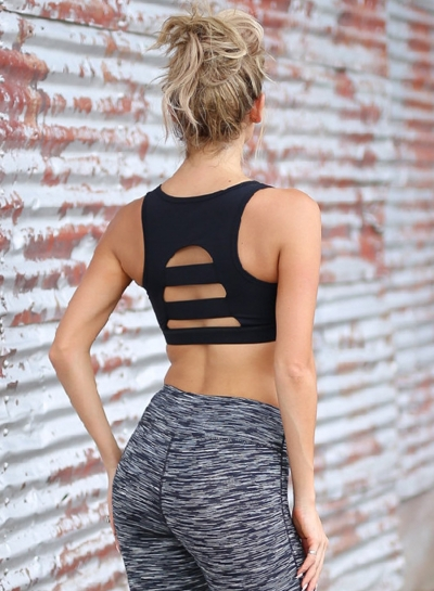 Spaghetti Strap Backless Yoga Sports Bra