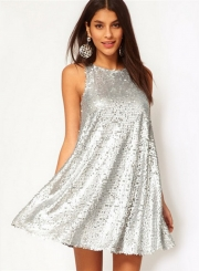 Fashion Sleeveless Sequin Mini Cocktail Dress