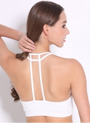 Fashion Wireless Back T Strap Yoga Bra