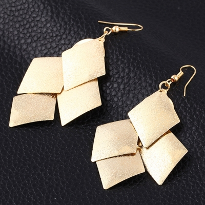 Alloy Leaves Shape Party Earrings
