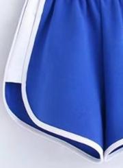 High Elastic Waist Sports Shorts