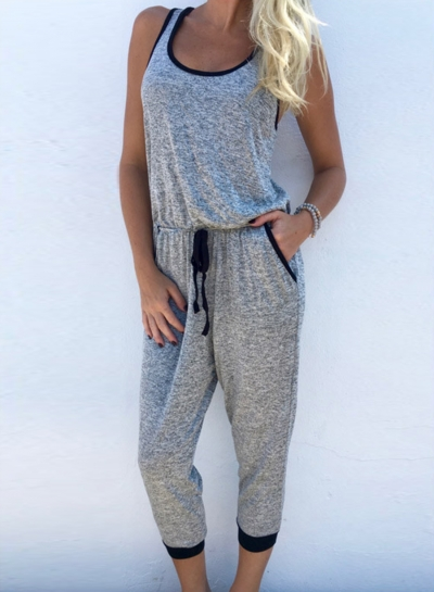 One Piece Sleeveless Sports Set Jumpsuits