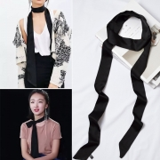 Fashion Solid Color Long Narrow Scarves