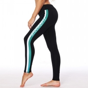 Fashion Striped Skinny Fit Ankle Yoga Leggings