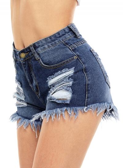 Fashion Washed And Brushed Denim Shorts stylesimo.com