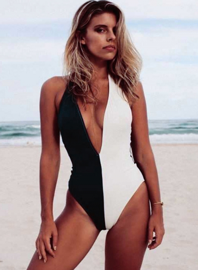Fashion Halter Backless One Piece Swimsuits