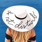 Big Brim Straw Beach Hat Folding Hat Sunscreen Hat with paillette