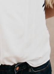 Fashion Sleeveless Embroidered Tank Top