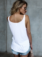 Fashion Loose Sleeveless Letter Printed Tank Top