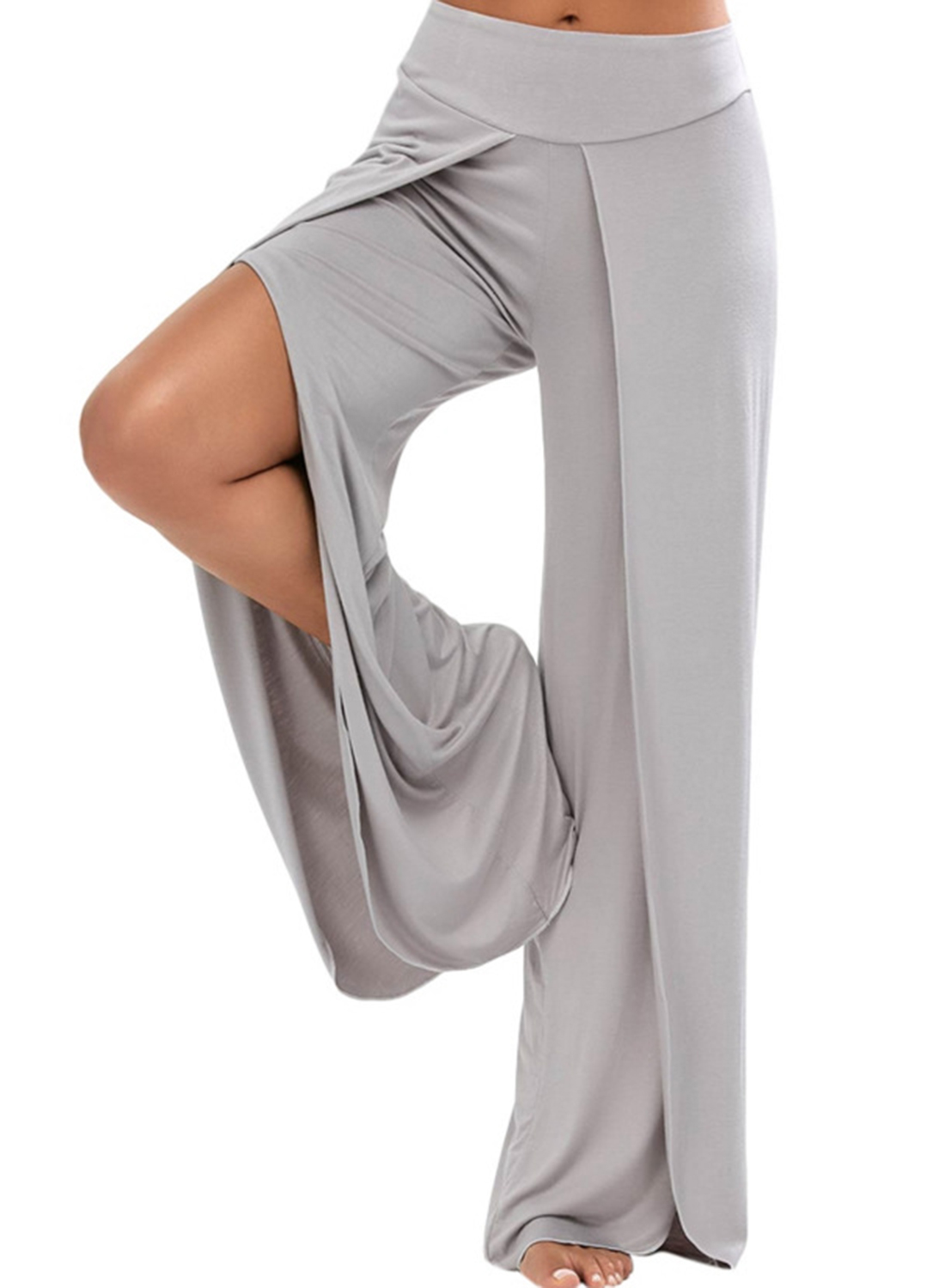 7661ea64f7 Fashion Summer Leisure Loose Slit Wide Leg Pants STYLESIMO.com. Loading zoom