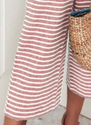 0eb7a0aa7bc ... Fashion Striped Off The Shoulder Sleeveless Tie Waist Wide Leg Jumpsuits  ...