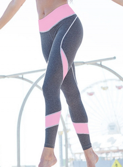 Fashion Sexy Printed Color Blocked Heart Shape Yoga Leggings