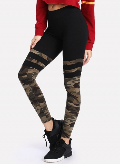 Fashion Casual Skinny Camouflage Pants Yoga Leggings
