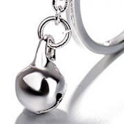 Fashion Concise Cute Hollow Out Cat Bell Tassel Open Ring