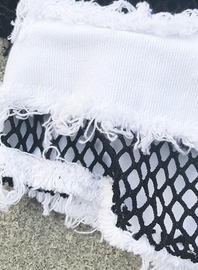 Sexy Wash Mesh Splicing Low Waist Zipper Fly Night Club Burrs Hot Shorts stylesimo.com