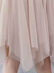 ea804cbbde ... Fashion Chic Sweet Solid Irregular Mesh High Waist A-line Bubble Skirt  ...