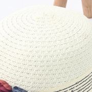 5522cc21a Flower Straw Floppy Foldable Rolled Up Beach Sunscreen Hat