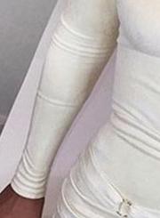 Off The Shoulder Bandage Long Sleeve Bodycon Mini Dress
