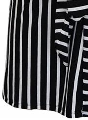 Black White Stripe Loose Dress
