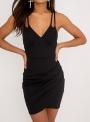 black-spaghetti-strap-irregular-bodycon-cocktail-dress