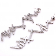 Romantic Novel Alloy Irregular Drop Earrings With Diamond