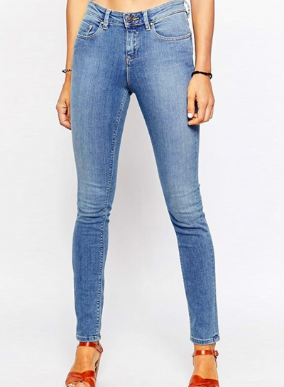 Casual Stretch Faded Ripped Slim Fit Skinny Denim Jeans