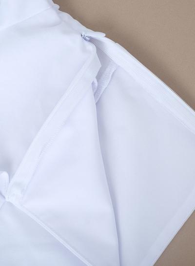 6e6eb282260d1e White Sexy V Neck Long Sleeve Ruffle Crop Top Slim Solid Color Blouse -  STYLESIMO.com
