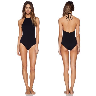 women-s-chic-solid-color-backless-scalloped-trim-one-piece-swimsuit