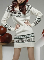 Women's Thermal Fairy Isle Pullover Knit Ugly Christmas Sweater