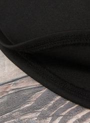 Women's Rpund Neck Camouflage Printed Slim Fit Pullover Tee