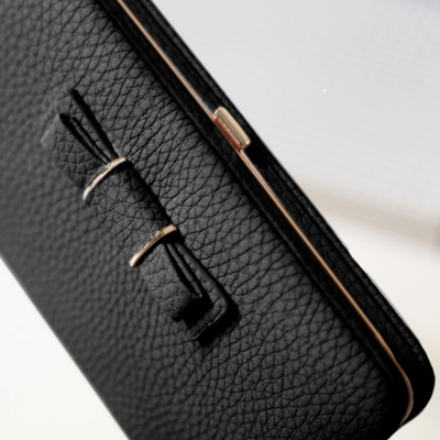 Women's Bow Large Capacity Strap Holder Artificial Leather Long Purse stylesimo.com