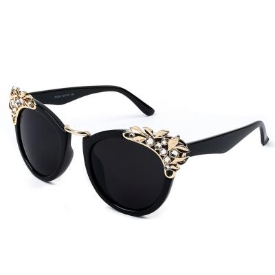 Women's Fashion Plastic Resin Rhinestone Cat Eye Sunglasses