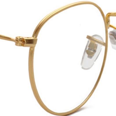 Women's Polycarbonate Retro Metal Frame Clear Lens Round Eyeglass stylesimo.com