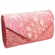 Socialite Floral Lace Evening Club Envelope Clutch Bag