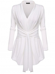 Women's Solid Cover up Cardigan Blouse