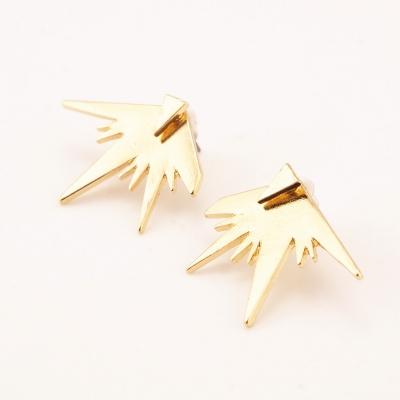 Women's Pack of 3 Triangle Stud Earrings stylesimo.com