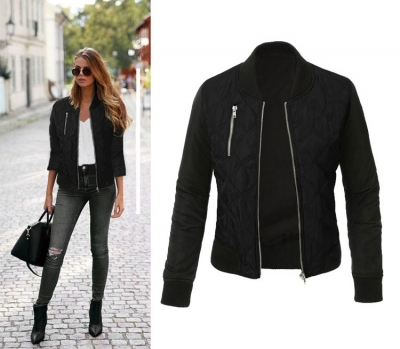 Long Sleeve Color Block Cotton-padded Jacket STYLESIMO.com