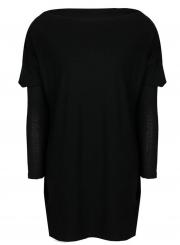 Solid Long Sleeve Knit Tee Shirt