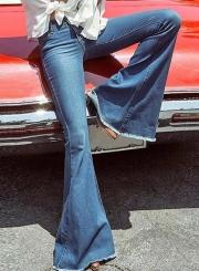 Fashion  Slim Fit Bell-bottoms Jeans Denim Pants