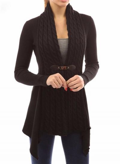 Fashion Long Sleeve Irregular Slim Fit Cardigan