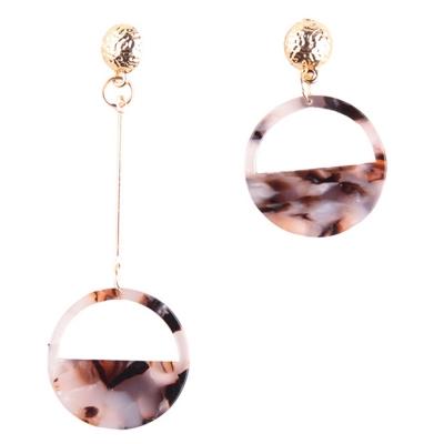 Fashion Semicircle Shape Asymmetric Colorful Earrings