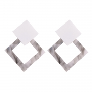 Fashion Square Shape Colorful Elegant Earrings