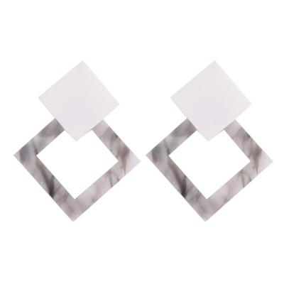 Fashion Square Shape Colorful Elegant Earrings stylesimo.com