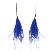 Elegant Feather Decoration Solid Color Party Earrings