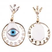 Fashion Novelty Eyes Patterned Drop Earrings