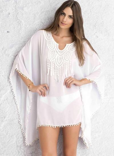 Loose Fit Chiffon Bikini Cover up Dress