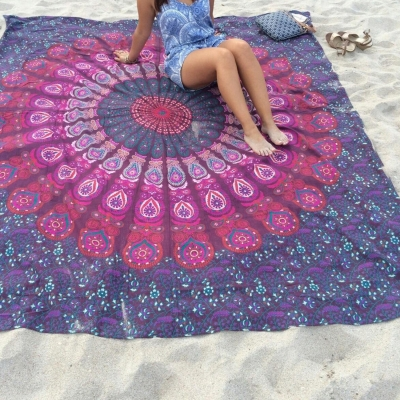 Rectangle Tapestry Chiffon Tablecloth Beach Towel
