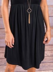 Short Sleeve Pleated Swing Dress